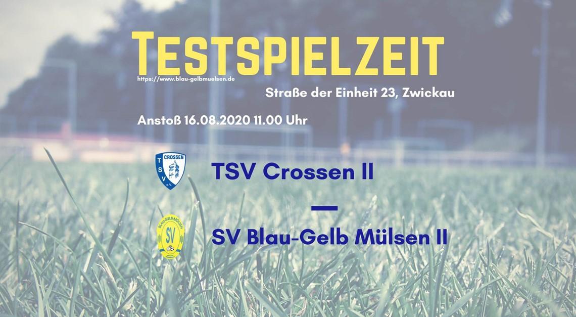 Unsere Zweite testet gegen TSV Crossen II