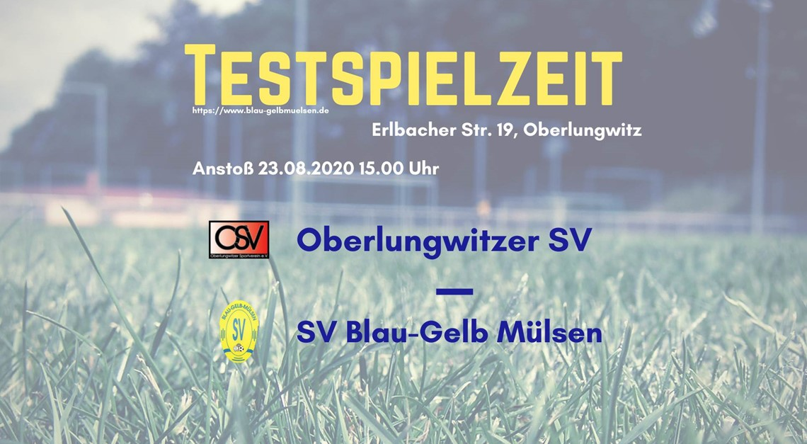"""Unsere """"Blau-Gelben"""" testen beim Oberlungwitzer SV"""