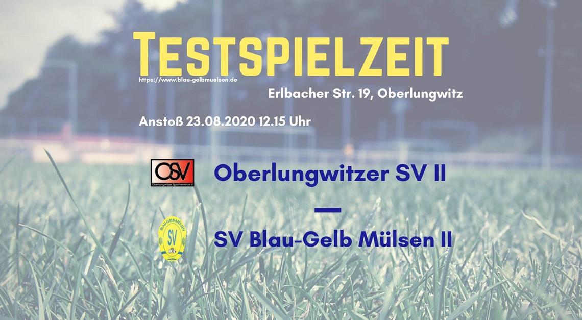 """""""Zweite"""" testet auch beim Oberlungwitzer SV"""