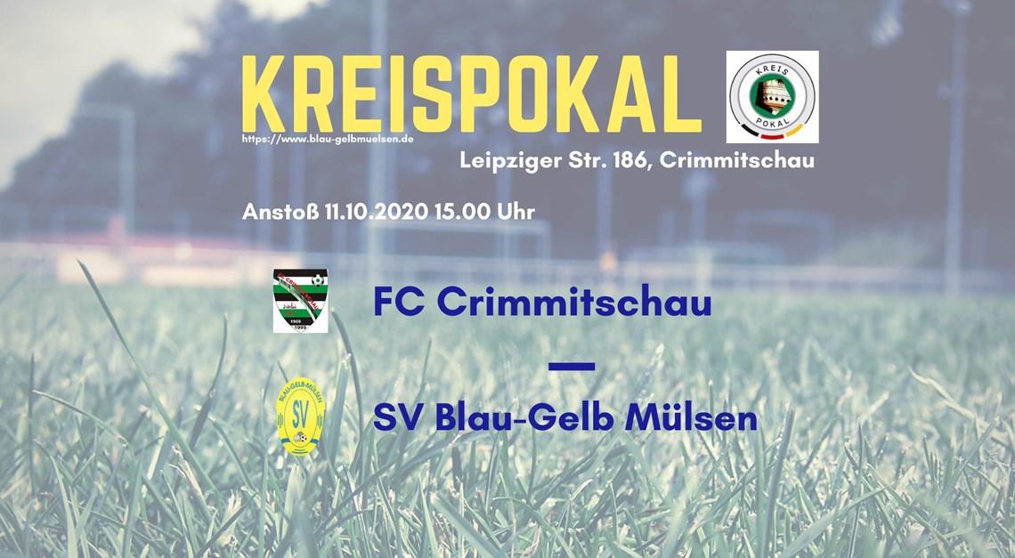 Kreispokal: 1. Hauptrunde beim FC Crimmitschau