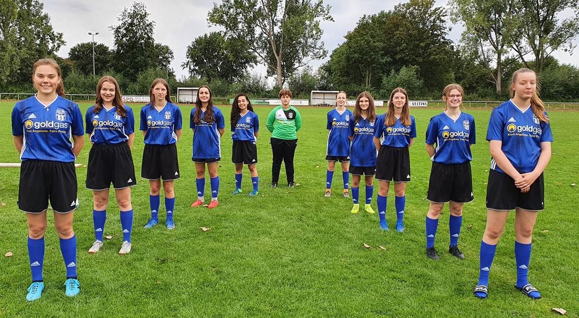 U17 Mädchen : Erstes Heimspiel , erster Punkt