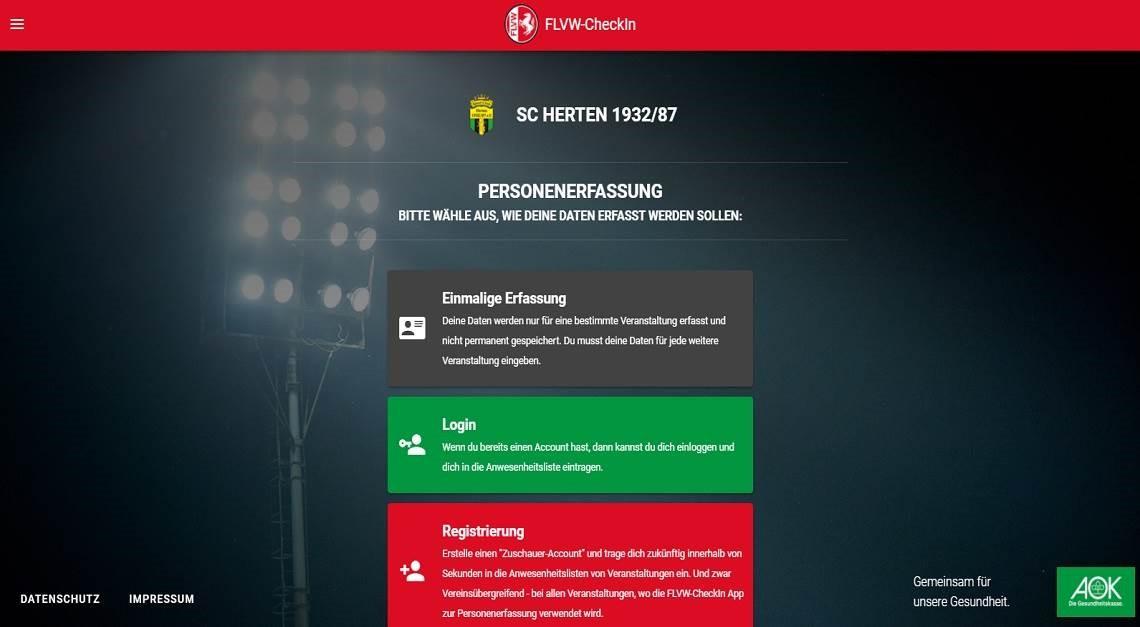 FLVW-CheckIn - Personenerfassung